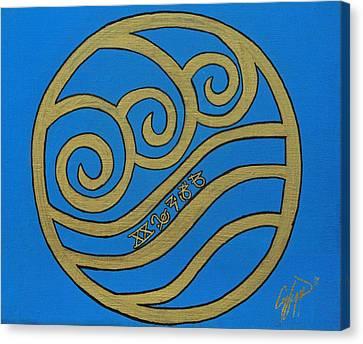 Element Of Water In Cy Lantyca Canvas Print by Cyryn Fyrcyd