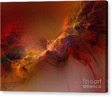 Elemental Force-abstract Art Canvas Print by Karin Kuhlmann
