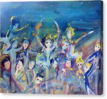 Elementals On The Beach Ballet Canvas Print by Judith Desrosiers