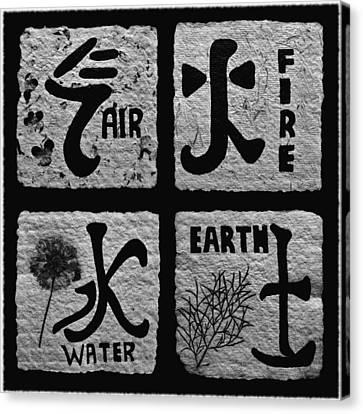 Elements Bw Canvas Print by Barbara St Jean