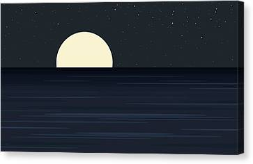 Elements -  Indigo Ocean Canvas Print by Val Arie