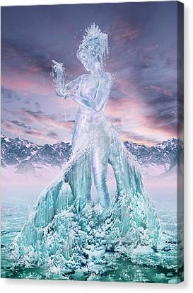 Elements - Water Canvas Print by Cassiopeia Art