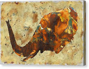 Elephant 2- Happened At The Zoo  Canvas Print by Jack Zulli