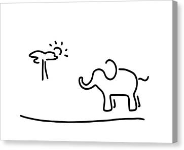 elephant Africa savanna Canvas Print
