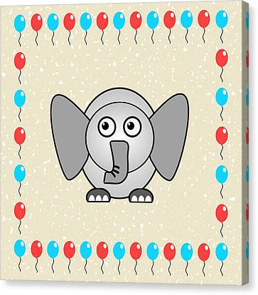 Elephant - Animals - Art For Kids Canvas Print by Anastasiya Malakhova