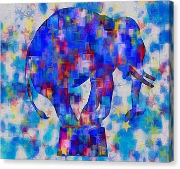 Elephant Blues Canvas Print by Jack Zulli