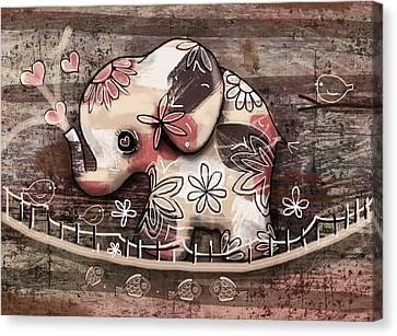 Elephant Bridge Canvas Print by Karin Taylor