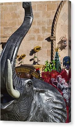 Elephant Celebration Canvas Print by Kathy Clark