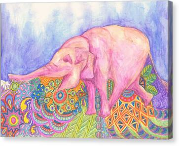 Canvas Print - Elephant by Cherie Sexsmith
