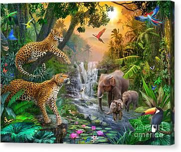 Bravery Canvas Print - Elephant Falls by Jan Patrik Krasny