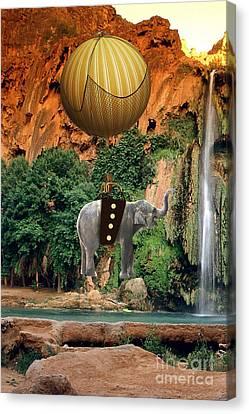 Hot Air Balloons Canvas Print - Elephant Flight by Marvin Blaine