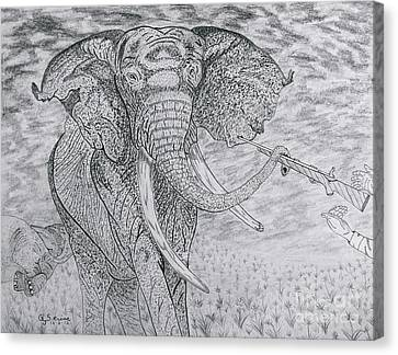 Elephant Gun Canvas Print by Gerald Strine