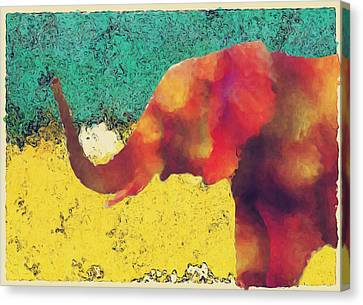 Elephant - Happened At The Zoo Canvas Print by Jack Zulli