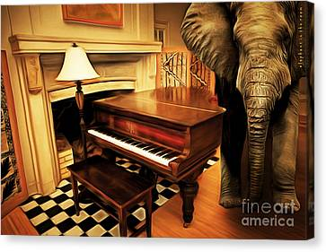 Metaphorical Canvas Print - Elephant In The Room 20141225 by Wingsdomain Art and Photography