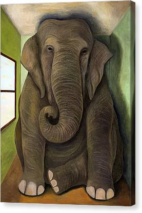 Elephant In The Room Wip Canvas Print by Leah Saulnier The Painting Maniac