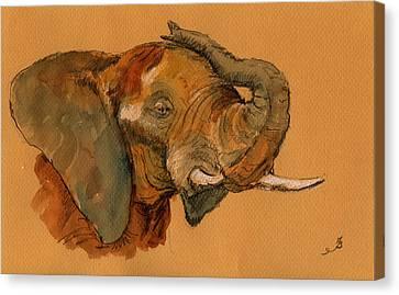 Elephant Canvas Print by Juan  Bosco