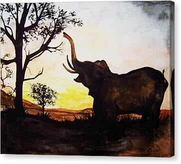 Elephant Canvas Print by Laneea Tolley