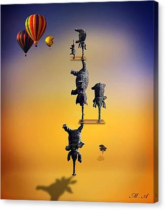 Elephant Life 2 Canvas Print