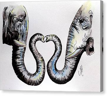 Elephant Love Canvas Print