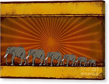 Elephants Canvas Print by Bedros Awak
