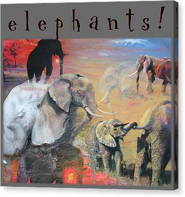 Canvas Print featuring the mixed media Elephants - Art 4 Kids by Brooks Garten Hauschild