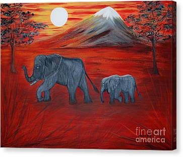 Elephants. Inspirations Collection. Canvas Print