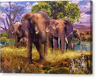 Elephants Canvas Print by Jan Patrik Krasny