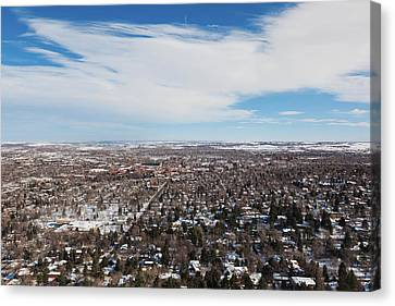 Flagstaff Canvas Print - Elevated City View From Flagstaff by Panoramic Images