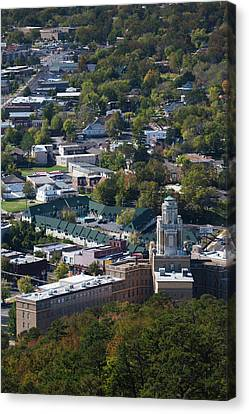 Elevated City View From Hot Springs Canvas Print by Panoramic Images