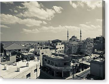 Jordan Canvas Print - Elevated Town View With Mosque, Madaba by Panoramic Images