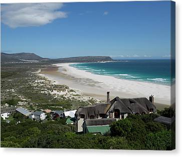 Elevated View Of A Bay, Noordhoek, Cape Canvas Print by Panoramic Images