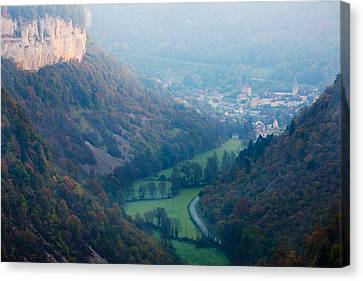 Elevated View Of A Village At Morning Canvas Print