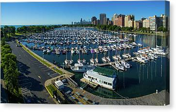 Elevated View Of Belmont Yacht Club Canvas Print