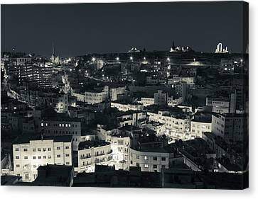 Jordan Canvas Print - Elevated View Of Central Amman by Panoramic Images