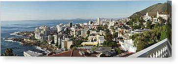 Elevated View Of House On Coast Seen Canvas Print by Panoramic Images