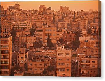 Jordan Canvas Print - Elevated View Of Jebel Amman Area by Panoramic Images