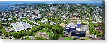 Elevated View Of Keyarena, Seattle Canvas Print