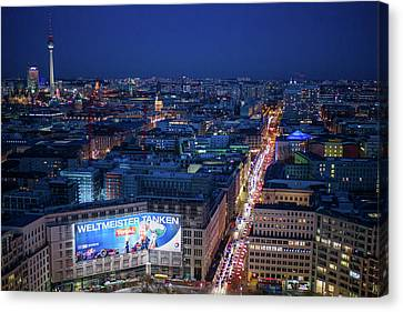Elevated View Of Leipziger Strasse Canvas Print