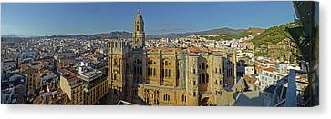 Malaga Canvas Print - Elevated View Of Malaga Cathedral by Panoramic Images
