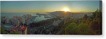 Malaga Canvas Print - Elevated View Of Malaga City by Panoramic Images