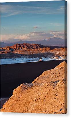 Elevated View Of Rocky Landscape, Valle Canvas Print