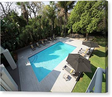 Elevated View Of Swimming Pool At Athol Canvas Print by Panoramic Images