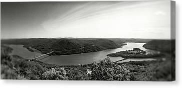 Elevated View Of The Hudson River Canvas Print by Panoramic Images