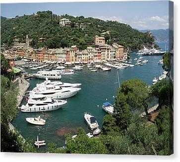 Elevated View Of The Portofino Canvas Print