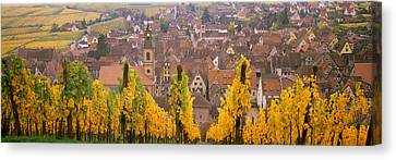 Rhin Canvas Print - Elevated View Of The Riquewihr by Panoramic Images
