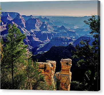 Grandview Canvas Print - Elevated View Of The Rock Formations by Panoramic Images