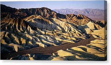 Elevated View Of The Zabriskie Point Canvas Print by Panoramic Images