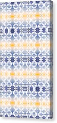 Geometric Design Canvas Print - Elevator Door Spring Tones by Beverly Claire Kaiya