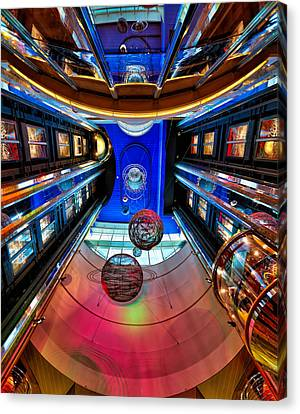 Elevators Aboard The Royal Caribbean Adventures Of The Seas Canvas Print