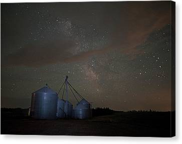 Elevators And Milky Way Canvas Print